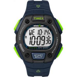 Timex Men's Ironman Classic 30 Blue/Lime/Black Watch, Resin Strap