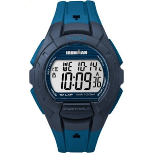 Timex Men's Ironman Essential 10 Blue/Black Watch, Resin Strap