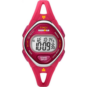 Timex Women's Ironman Sleek 50 Pink Watch, Silicone Strap