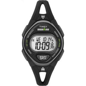 Timex Women's Ironman Sleek 50 Black Watch, Silicone Strap