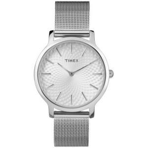 Timex Women's Metropolitan 34mm Silver-Tone Watch, Stainless Steel Mesh Bracelet