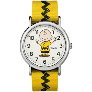 Timex Weekender Peanuts: Charlie Brown Watch, Nylon Slip-Thru Strap