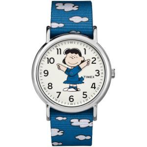 Timex Weekender Peanuts: Lucy Watch, Nylon Slip-Thru Strap