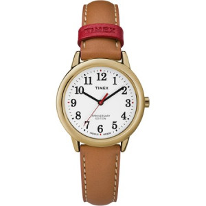 Timex Women's Easy Reader 40th Anniversary Tan/White Watch, Leather Strap