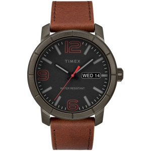 Timex Men's Mod 44 Brown/Black Watch, Leather Strap