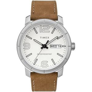 Timex Men's Mod 44 Tan/White Watch, Leather Strap