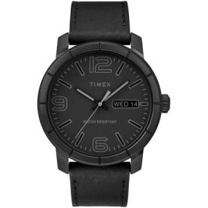 Timex Men's Mod 44 Black Watch, Leather Strap