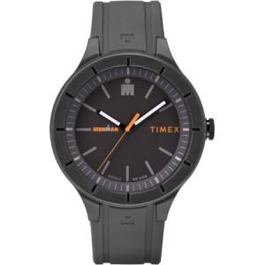 Timex Ironman Essential Urban 42mm Gray/Orange Watch, Silicone Strap