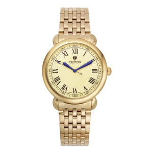 """Croton Men's """"Heritage"""" Goldtone Stainless Bracelet Watch with Champagne Dial"""