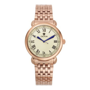 """Croton Men's """"Heritage"""" Rosetone Stainless Bracelet Watch with Ivory Dial"""