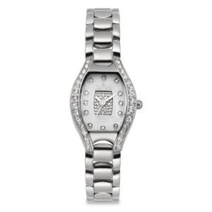 Croton Ladies Silvertone Quartz Watch with 12 Diamond Markers & Crystal Bezel