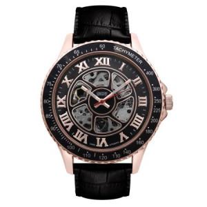 Croton Men's Black Imperial Automatic Strap Watch