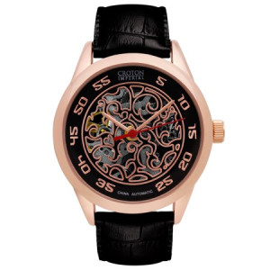 Croton Men's Rosegold Imperial Automatic Strap Watch