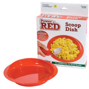 Power of Red Scoop Dish with Suction Bottom