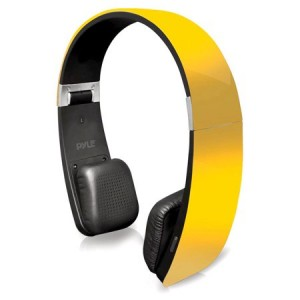Pyle Sound 6 BT 2-in-1 Stereo Headphones with Built-in Mic for Call Answering and Easy-Touch Controls - Yellow Color