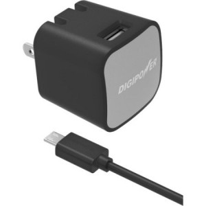 Digipower IS-AC2M InstaSense 2.4A Single USB Wall Charger with 4.9' microUSB Cable