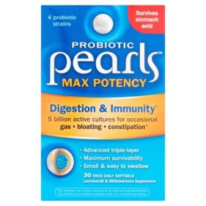 Enzymatic Therapy Probiotic Pearls High Potency Digestive Health Softgels