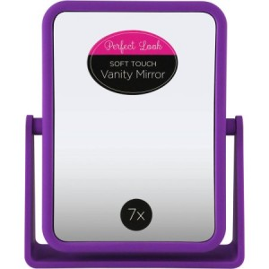 Swissco Soft Touch Square Standing Mirror 1X/7X in Purple