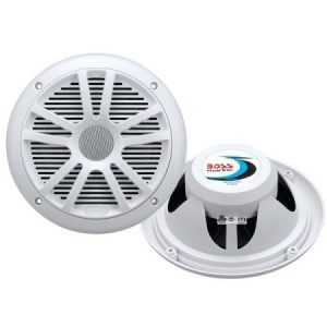 "Boss Audio MR6W Marine 6.5"" Dual Cone Speakers, White (Pair of Speakers)"