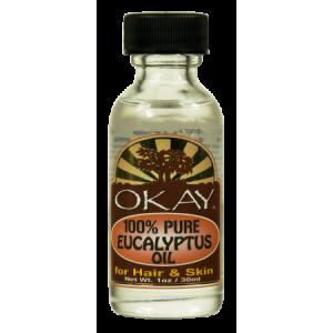 Okay 100% Oure Eucalyptus Oil For Hair and Skin, 1 Oz
