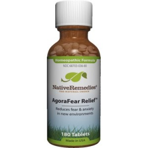 NativeRemedies AgoraFear Relief Tablets, 180 Ct