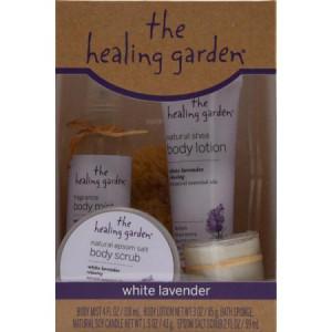 The Healing Garden White Lavender Gift Set, 5 pc