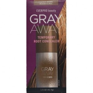 Everpro Beauty Gray Away for Women Temporary Root Concealer, Brown/Med Blonde, 1.5 oz