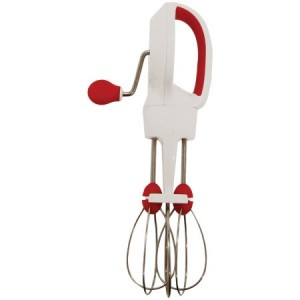 Starfrit 818549020799 Super-fast Egg Beater, Snap Fit Measuring Spoons & Red Cooking Mat