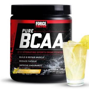 Force Factor Pure BCAA Powder, Electric Lemonade, 30 Servings