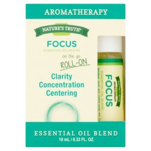 Nature's Truth Aromatherapy Focus Essential Oil Roll-On, 0.33 Fl Oz