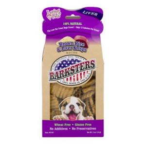 Barksters Brown Rice & Liver Krisps, 5.0 Oz.