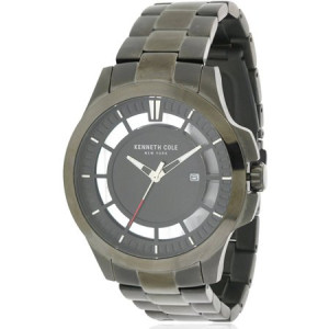 Kenneth Cole Gunmetal Stainless Steel Mens Watch 10027462