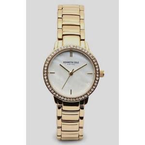 Women's Kenneth Cole Goldtone Crystallized Watch KC50047002