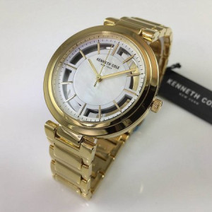 Women's Kenneth Cole Transparency Gold Tone Watch KC50048001