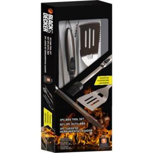 Black & Decker 3-Piece BBQ Accessory Kit