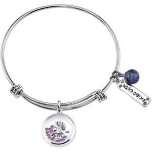 """Stainless Steel Expandable """"Watch Over Me"""" Bangle Bracelet"""