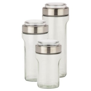 Honey Can Do Store And Measure Set, Stainless Steel, 3-Piece
