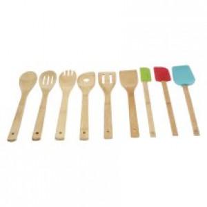 Mainstays 9 piece Bamboo Kitchen Tool Set