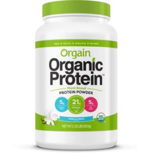 Orgain Organic Vegan Protein Powder, Vanilla, 21g Protein, 2.0 Lb