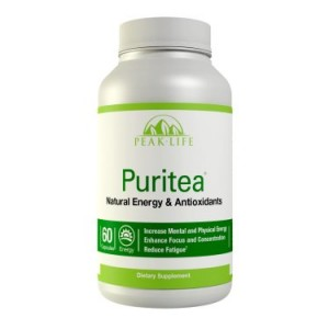 Peak Life Puritea, Tea Blend for Natural Energy & Antioxidants, 60 Count