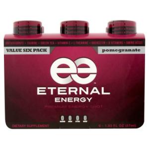 Eternal Energy Premium Energy Shot, Pomegranate, 1.93 Fl Oz, 6 Ct