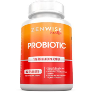 Zenwise Health Probiotic Digestive Supplement, 15 Billion CFU, 60 Ct