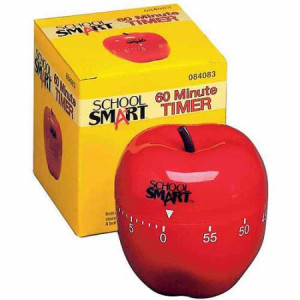 School Smart Apple Timer With Bell, 60 M
