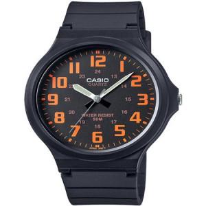 Casio Men's Super-Easy Reader Watch, Black/Orange Dial, MW240-4BV