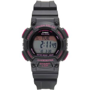 Casio Men's Solar 120-Lap Runner's Watch, Black