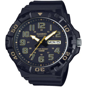 Casio Men's Dive Style Watch, Black with Gold Accents