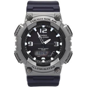 Casio Men's Gunmetal Solar Analog-Digital Watch