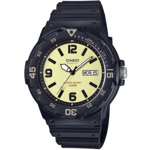 Casio Men's Analog Watch, Tan Dial