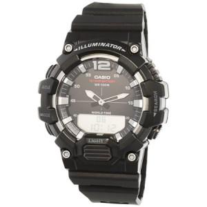 Casio Men's Analog-Digital World Time Watch, Black - HDC700-1AV