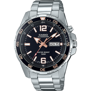 Casio Men's Stainless Steel Dive-Style Watch - MTD1079D-1A3V